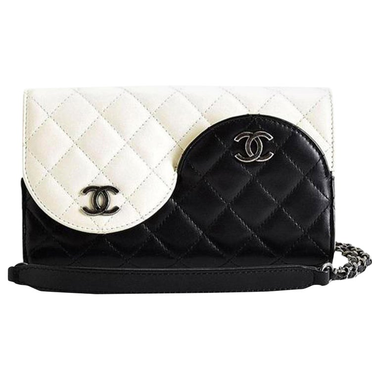 Chanel Wallet on Chain Classic Flap Rare Ying Yang Mini Woc Cross Body Bag For Sale