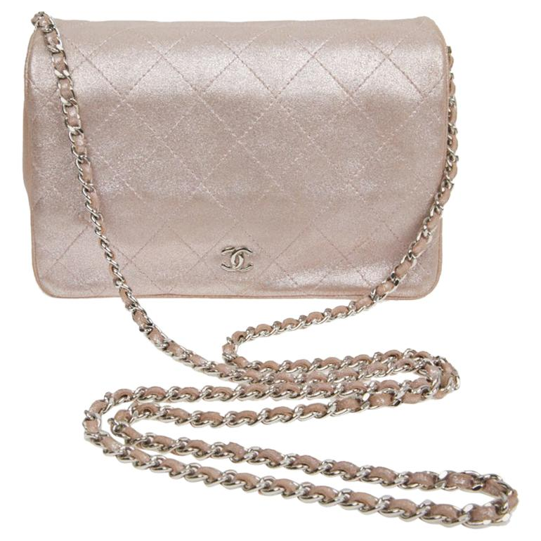 Chanel 'Wallet on Chain' Flap Bag in Pink Leather