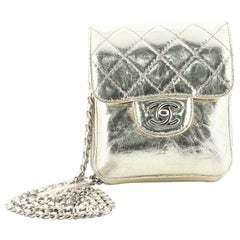 Chanel Wallet on Chain Flap Bag Quilted Metallic Calfskin Mini