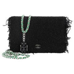 Chanel Wallet on Chain Fringe Tweed
