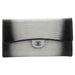 Chanel Wallet on Chain Iridescent Ombre Lizard East West