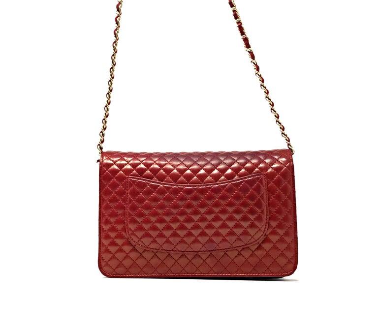 Chanel Wallet on Chain Lambskin Leather Bordeaux .2008 1