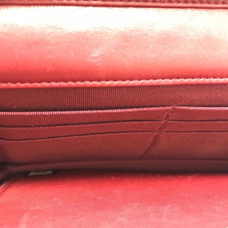 Chanel Wallet on Chain Lambskin Leather Bordeaux .2008 3