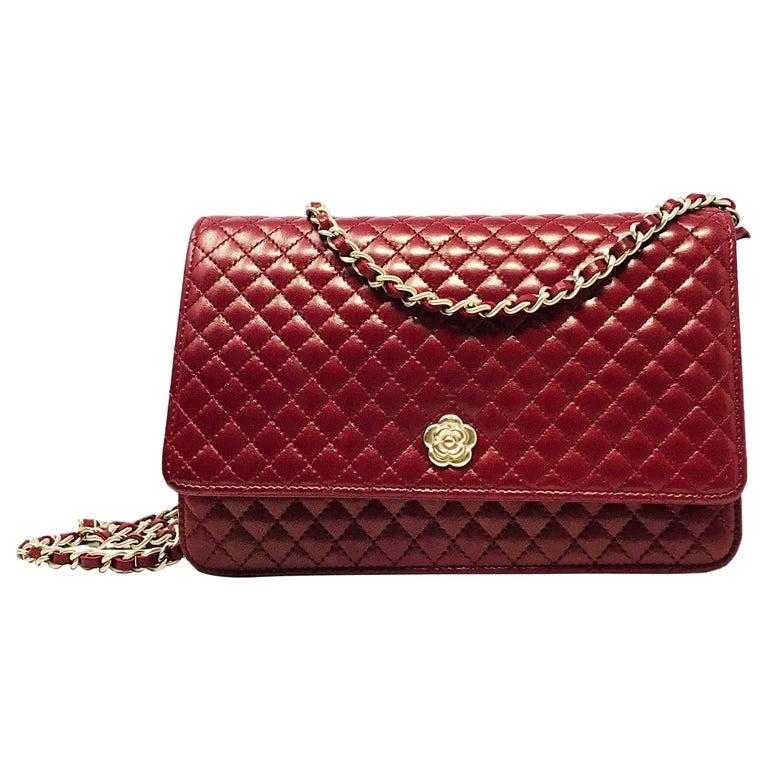 Chanel Wallet on Chain Lambskin Leather Bordeaux .2008