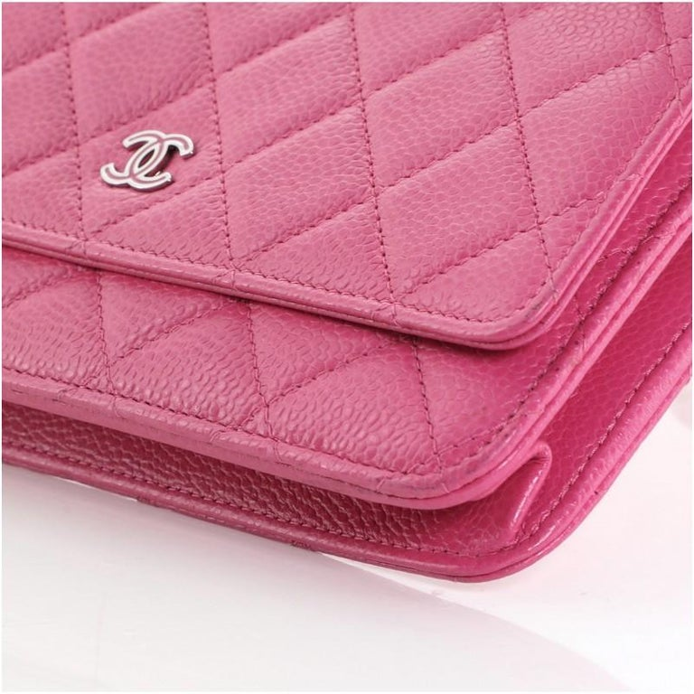Chanel Wallet on Chain Quilted Caviar For Sale 2