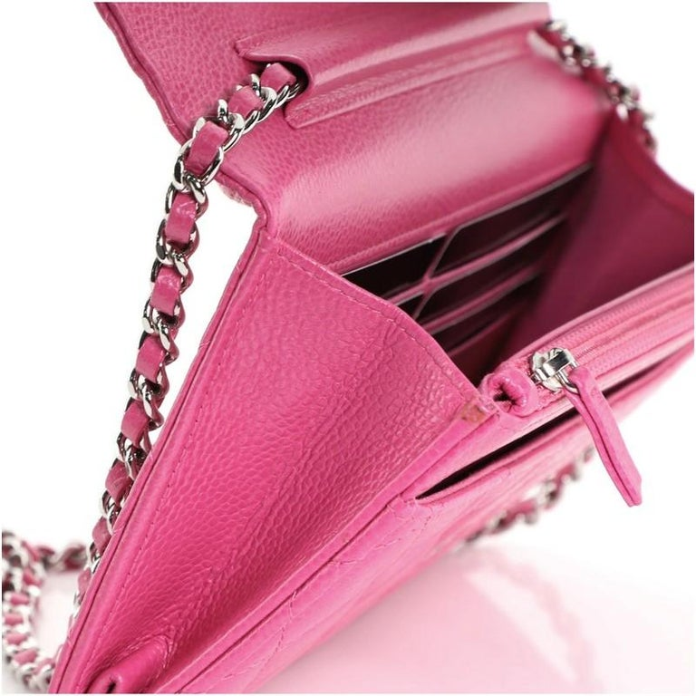 Chanel Wallet on Chain Quilted Caviar For Sale 3