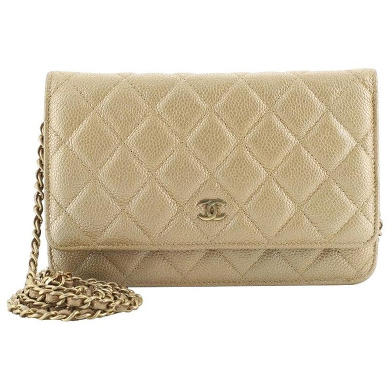 Chanel Wallet on Chain Quilted Caviar For Sale