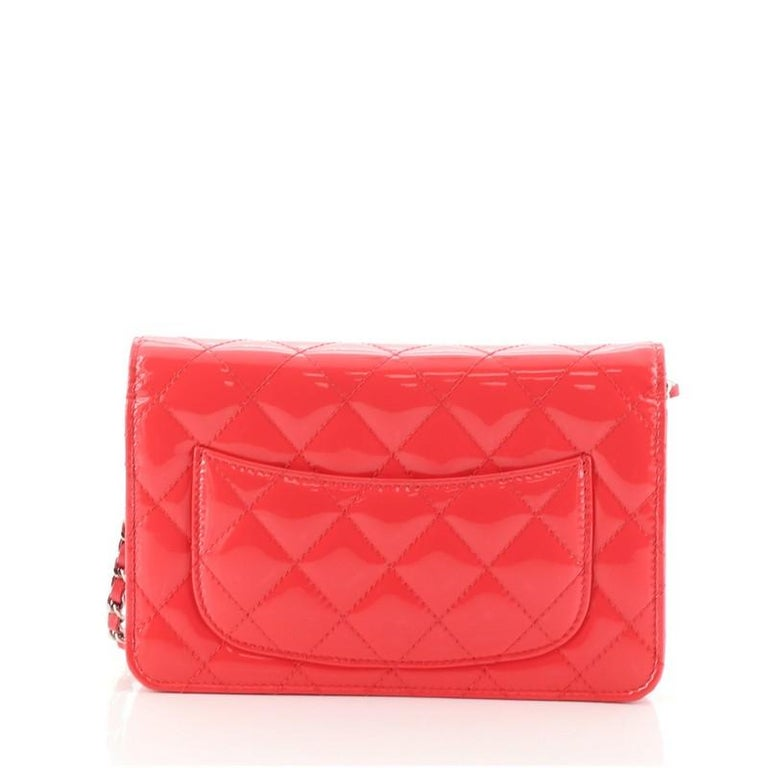 Women's or Men's Chanel Wallet on Chain Quilted Patent For Sale