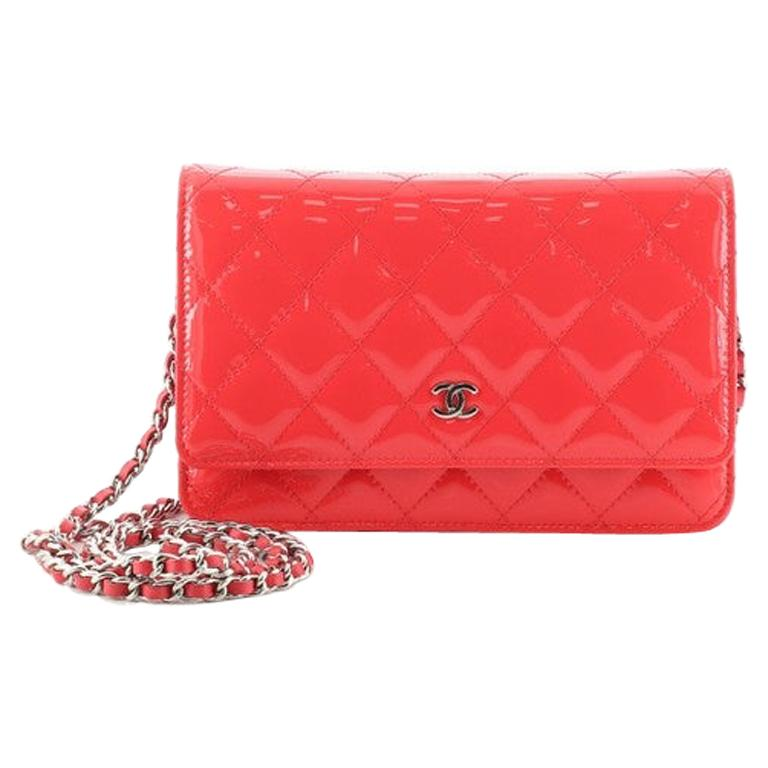 Chanel Wallet on Chain Quilted Patent For Sale