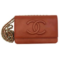 CHANEL Wallet on Chain Rust Lambskin with Gold Hardware-Excellent Condition