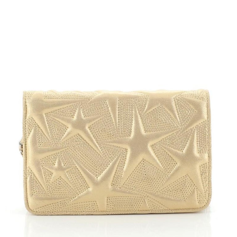 Chanel Wallet on Chain Star Embossed Lambskin In Good Condition In New York, NY