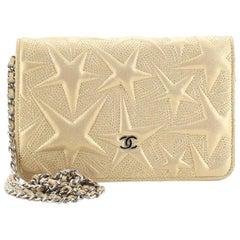 Chanel Wallet on Chain Star Embossed Lambskin