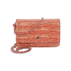 Chanel Wallet On Chain Striped Patent