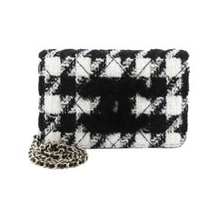 Chanel Wallet on Chain with Coin Purse Quilted Tweed with Shearling