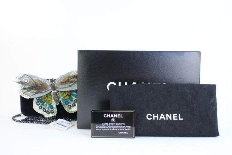 Chanel Wallet on Clutch Butterfly Feather & Sequin Chain 3ccty71417 Cross Body  For Sale 5