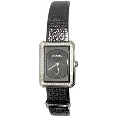 Chanel Watch Boyfriend Tweed/ Diamonds