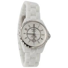 Chanel watch J12 in white ceramic