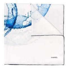 Chanel Water Logo Silk Scarf