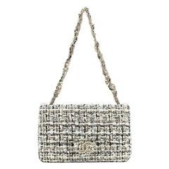 Chanel Westminster Tangled Pearl Chain Flap Bag Painted Tweed Medium