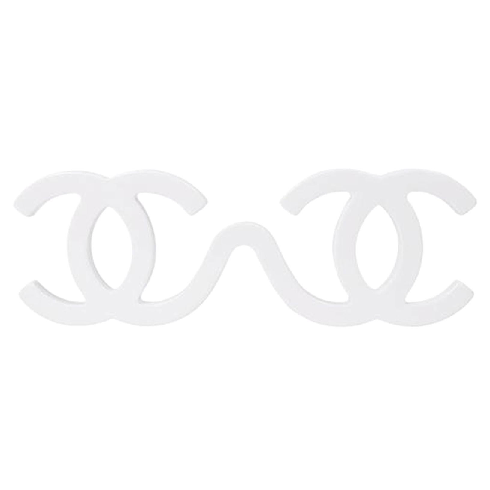 Chanel White 1994 Cc Runway Sunglasses