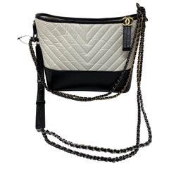 Chanel White and Black Gabrielle Bag