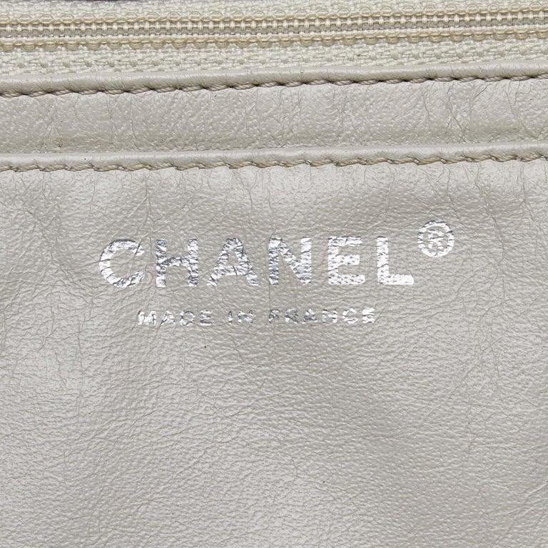 Chanel White Caviar Leather Leather Classic Jumbo Caviar Single Flap Bag France 2