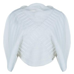 Chanel White Circular Knit Top S
