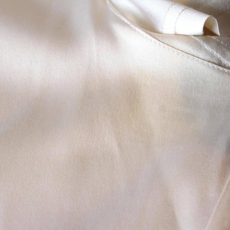 Women's Chanel White Cream Silk Shirt  For Sale