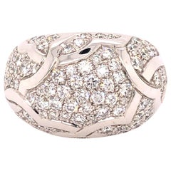 Chanel White Gold Diamond Dome Ring