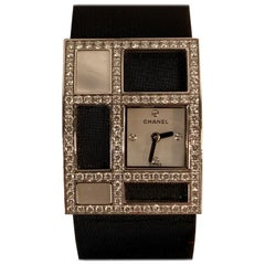 Chanel White Gold Diamond Mother of Pearl 1932 Art Deco Wrist Watch