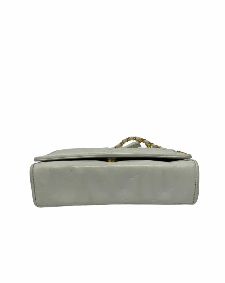 Chanel White Leather Bag In Good Condition For Sale In Torre Del Greco, IT