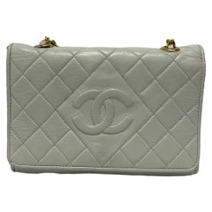 Chanel White Leather Bag