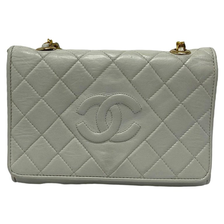 Chanel White Leather Bag For Sale