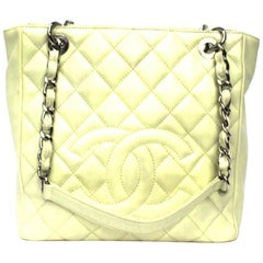 Chanel White Leather PST Bag