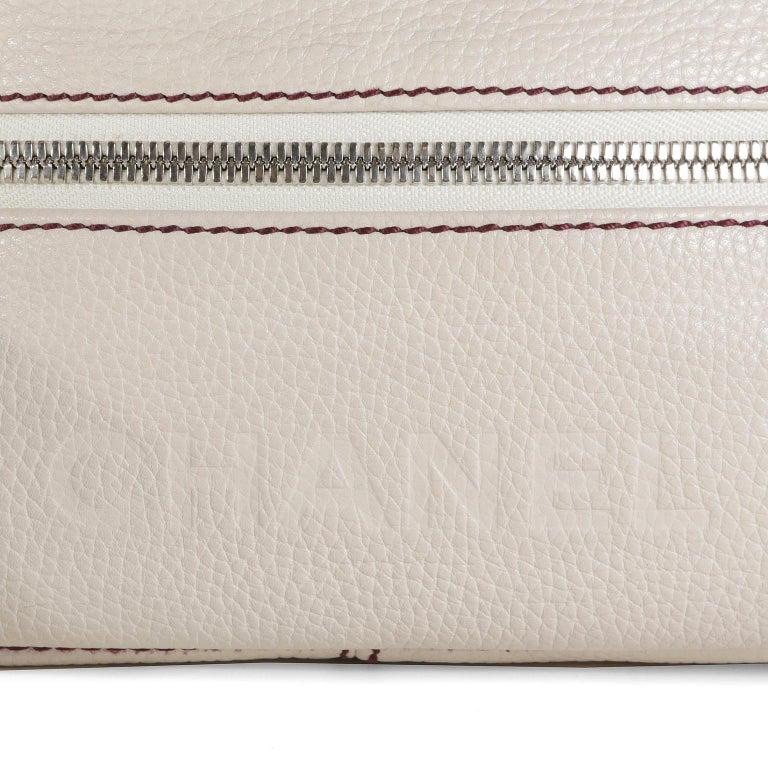 Chanel White Leather Tassel Shoulder Bag For Sale 1