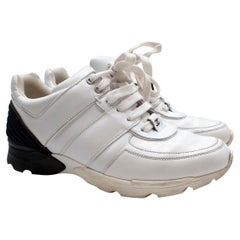 Chanel White Leather Trainers - Us size 10