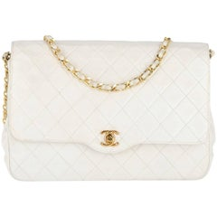 Chanel White Leather Vintage Bag, 1980s