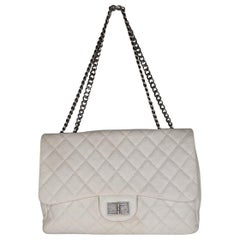 Chanel White Quilted Caviar 2.55 Reissue 226 Single Flap