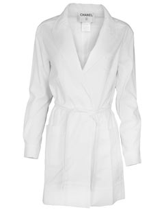 Chanel White Robe Jacket with Hanger