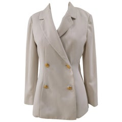 Chanel white silk blazer / jacket