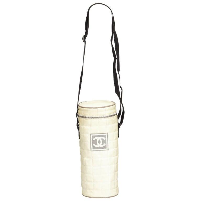 c4f21babd89cb6 Chanel White Sport Line Quilted Nylon Shoulder Bag at 1stdibs