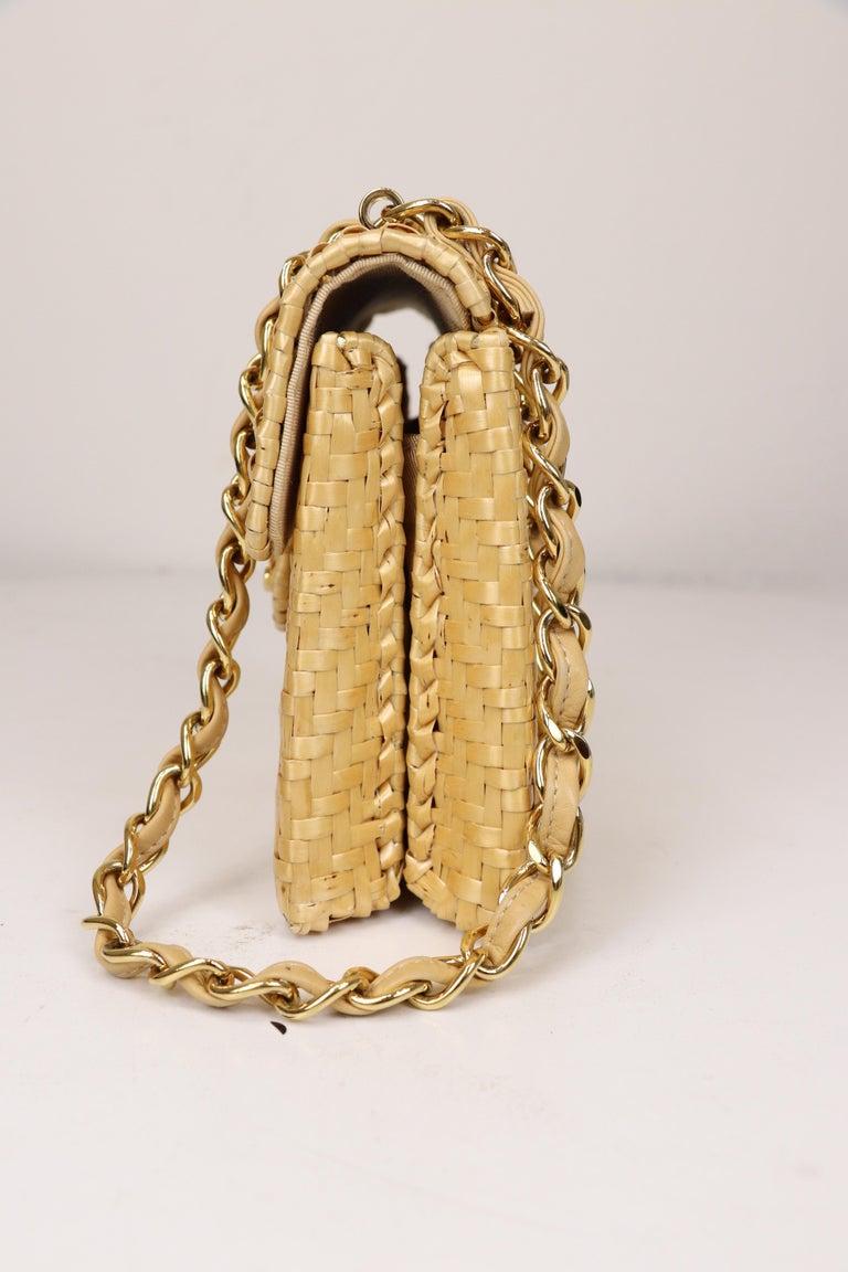 Women's Chanel Wicker Flap Bag 2000-2002  For Sale