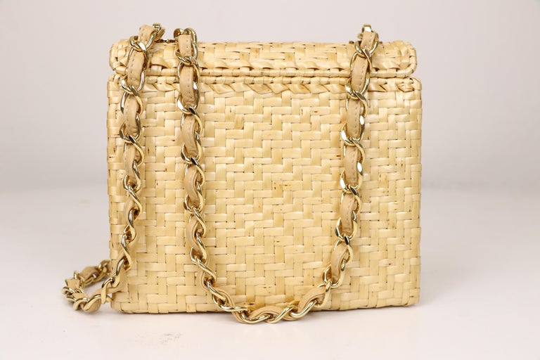 Chanel Wicker Flap Bag 2000-2002  For Sale 1