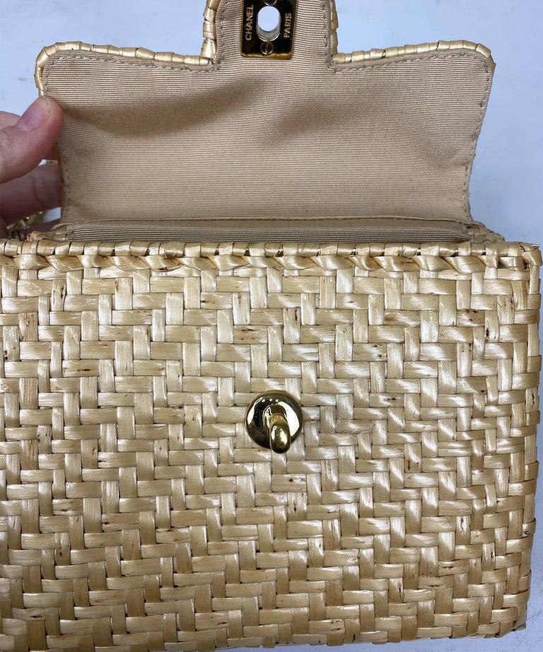 Chanel Wicker Flap Bag 2000-2002  For Sale 3