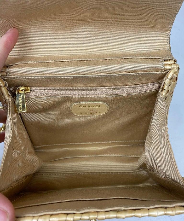 Chanel Wicker Flap Bag 2000-2002  For Sale 4