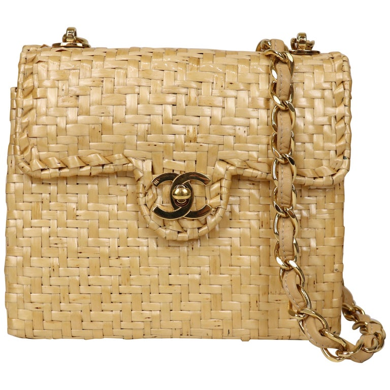 Chanel Wicker Flap Bag 2000-2002  For Sale