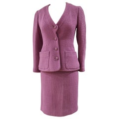 Chanel wisteria Wool Skirt Suit