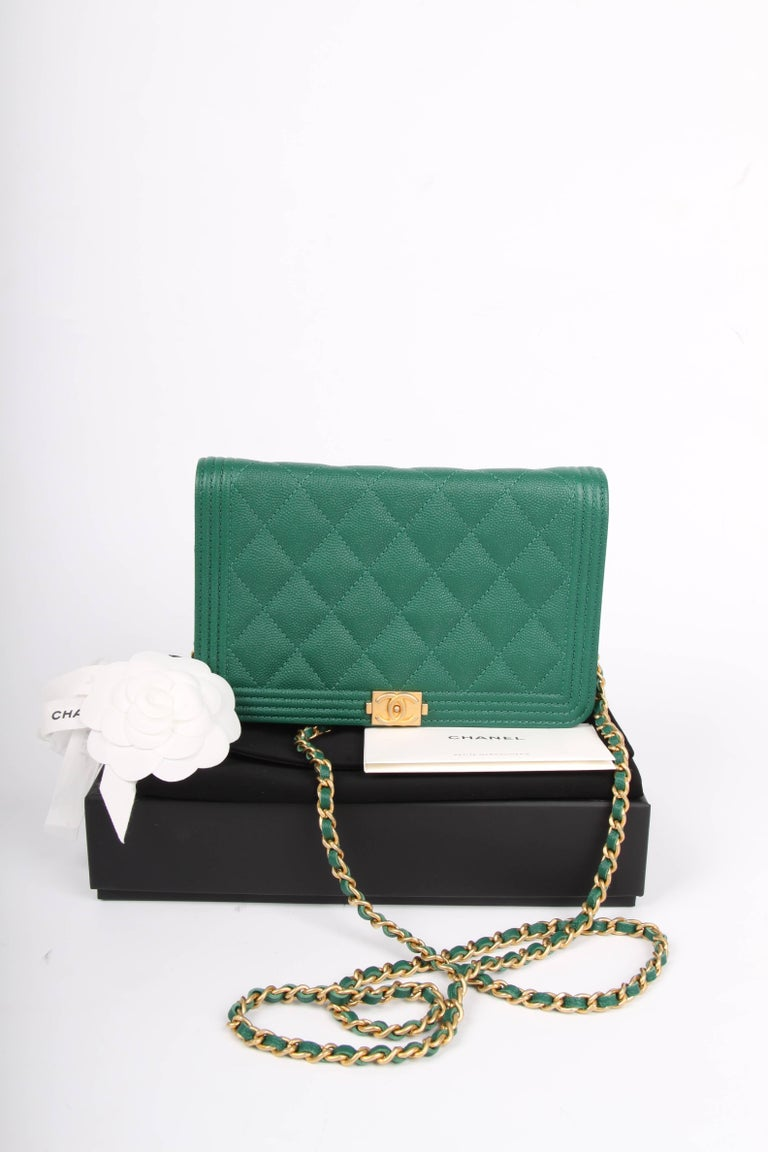 50443ef29e5e Highly desirable Chanel bag; it is the Wallet on Chain Boy Bag! Wearable on