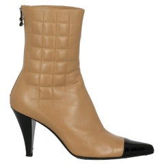 Chanel Woman Ankle boots Beige, Black