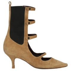 Chanel Woman Ankle boots Beige Leather IT 37